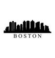 boston skyline vector image vector image