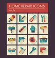 building construction and home repair tools icons vector image vector image