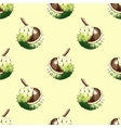 Chestnut walnut watercolor seamless pattern vector image vector image