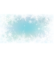 Christmas background with light snowflakes vector image