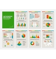 colorful business a4 brochures with infographic vector image vector image