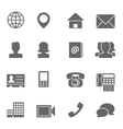 Contact Icons Set vector image