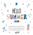 Cute Hello Summer Poster vector image
