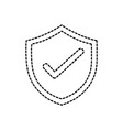 dotted shape shield security protection web symbol vector image