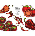 eco shop farm product sketch vegetables vector image vector image