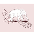 elephant sketch vector image