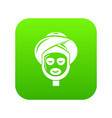facial spa treatment icon green vector image