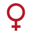 female symbol isolated icon vector image vector image