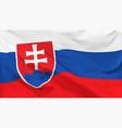 flag slovak republic vector image