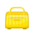 flat icon of yellow handbag with zippered vector image vector image