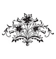 floral motif is a decorative elements vintage vector image vector image