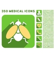 Fly Icon and Medical Longshadow Icon Set vector image vector image
