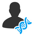 geneticist dna flat icon vector image vector image