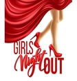 Girl Night Out Party Design vector image vector image