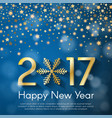 golden new year 2017 concept on blue blurry vector image vector image