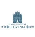Greeting Card Slovenia vector image vector image