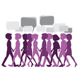 Group of people walking vector image