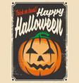 halloween retro card design vector image vector image