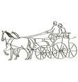 hand drawn horses vector image vector image