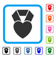 heart award framed icon vector image vector image