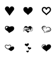 hearts icon set vector image