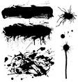 ink symbol set vector image vector image