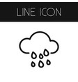 isolated cloud outline rain element can b vector image