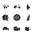 Italy country set icons in black style Big vector image vector image
