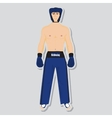 kickboxing fighter vector image vector image
