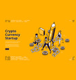 landing page crypto currency startup vector image