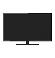 LCD TV monitor vector image vector image