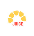 lime juice simple logo vector image vector image