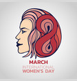 march 8 international womens day vector image vector image