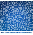 mega set of 328 different snowflakes eps 10 vector image