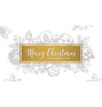 merry christmas trendy greeting horizontal banner vector image vector image