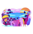 meteorology drones concept vector image vector image