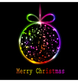 multicolored christmas ball vector image