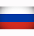 National flag of Russia vector image vector image