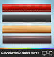Navigation Bars For Web And Mobile Set1 vector image vector image
