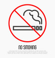 no smoking thin line sign vector image