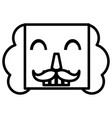 nutcracker face icon vector image