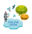 online games character concept bubble speech vector image vector image