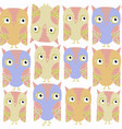 owls abstract nature seamless pattern it is vector image vector image