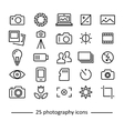 photography icons collection vector image vector image