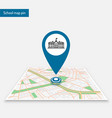 pin school logo template location map vector image vector image