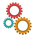 pinions set icon colorful in white background vector image