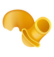 pipe rigate pasta icon realistic style vector image vector image