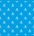power station pattern seamless blue vector image vector image