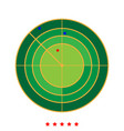 radar icon different color vector image vector image