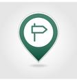 Road Signpost map pin icon vector image